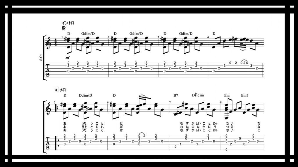 歌うたいのバラッドタブ譜